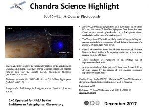 Chandra Science Highlight J 004541 A Cosmic Photobomb