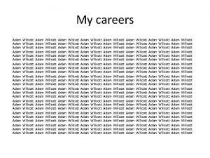 My careers Adam Adam Adam Adam Adam Adam