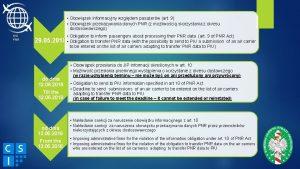 Obowizek informacyjny wzgldem pasaerw art 9 Obowizek przekazywania