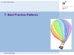 ST Best Practice Patterns 7 Best Practice Patterns