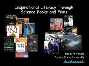 Inspirational Literacy Through Science Books and Films Sidney
