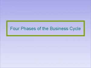Four Phases of the Business Cycle Business Cycle