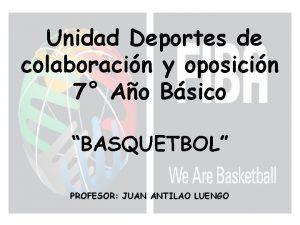 Unidad Deportes de colaboracin y oposicin 7 Ao