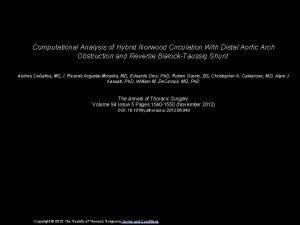Computational Analysis of Hybrid Norwood Circulation With Distal