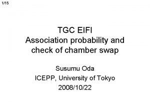 115 TGC EIFI Association probability and check of