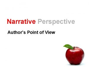 Narrative Perspective Authors Point of View Dialogue and