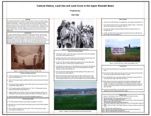 Cultural History Land Use and Land Cover in