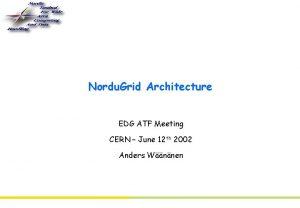 Nordu Grid Architecture EDG ATF Meeting CERN June