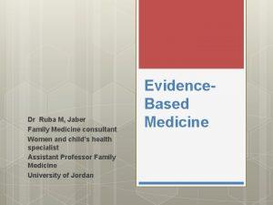 Dr Ruba M Jaber Family Medicine consultant Women