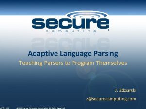 1072020 Adaptive Language Parsing Teaching Parsers to Program