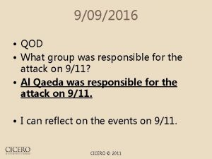 9092016 QOD What group was responsible for the