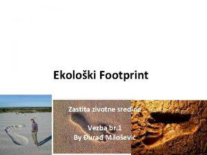 Ekoloki Footprint Zastita zivotne sredine Vezba br 1