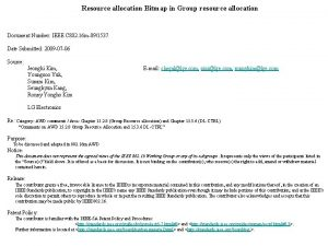 Resource allocation Bitmap in Group resource allocation Document