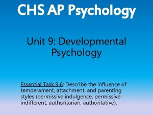 CHS AP Psychology Unit 9 Developmental Psychology Essential