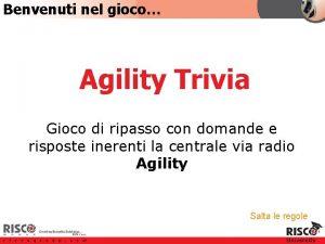 Benvenuti nel gioco Agility Trivia Gioco di ripasso