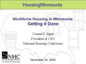 Housing Minnesota Workforce Housing in Minnesota Getting it