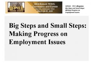 149144 FFE Colloquium Big Steps and Small Steps