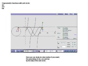 Trigonometric functions with unit circle sin cos tan