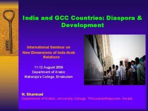 India and GCC Countries Diaspora Development International Seminar