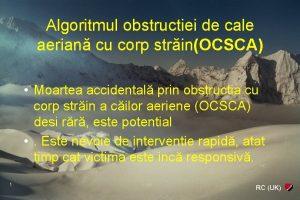 Algoritmul obstructiei de cale aerian cu corp strinOCSCA