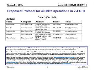 November 2006 doc IEEE 802 11 061897 r