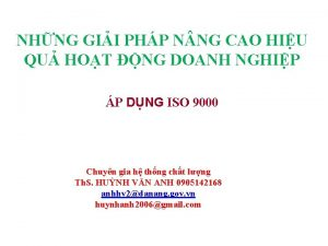NHNG GII PHP N NG CAO HIU QU