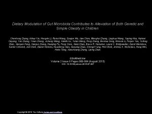Dietary Modulation of Gut Microbiota Contributes to Alleviation