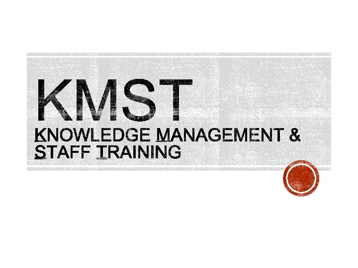 updated KMST aims objectives updated governance updated calendar