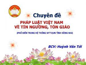 Chuyn PHP LUT VIT NAM V TN NGNG