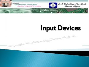 Input Devices Contents Introduction v Common Input Devices