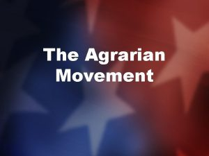 The Agrarian Movement Problems of Farmers In the