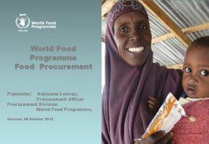 WFPLogan Abassi WFP World Food Programme Food Procurement