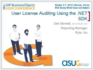 User License Auditing Using the NET SDK Dell