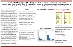 Assessment of Lupus SLE Mortality in a PatientBased