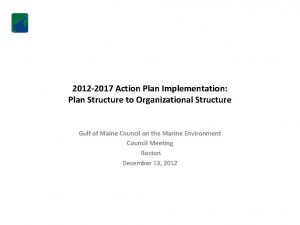 2012 2017 Action Plan Implementation Plan Structure to