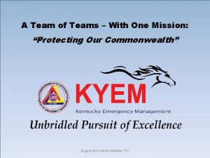 A Team of Teams With One Mission Protecting