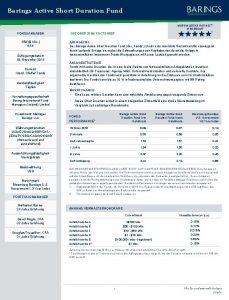 Barings Active Short Duration Fund MORNINGSTAR RATINGTM INSGESAMT
