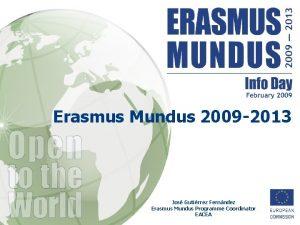 Erasmus Mundus 2009 2013 Jos Gutirrez Fernndez Erasmus