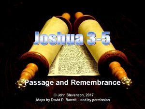 Passage and Remembrance John Stevenson 2017 Maps by