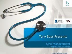 Tally Boys Presents OPD Management Using Tally ERP