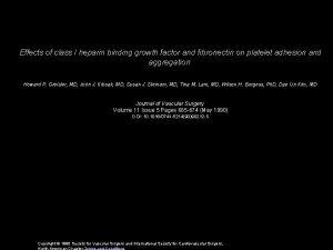 Effects of class I heparin binding growth factor