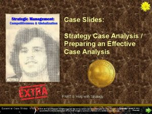 Cases Title Slide Case Slides Strategy Case Analysis