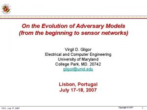 On the Evolution of Adversary Models from the
