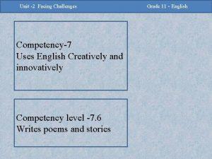 2 Challenges Facing Challenges Unit 2 Unit Facing