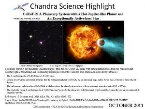 Chandra Science Highlight Co Ro T2 A Planetary