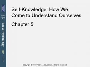 SelfKnowledge How We Come to Understand Ourselves Chapter