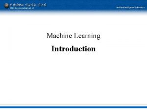 Machine Learning Introduction Machine Learning Tom T Mitchell