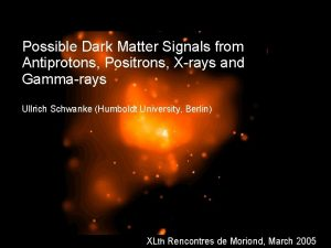 Possible Dark Matter Signals from Antiprotons Positrons Xrays