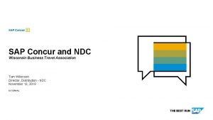SAP Concur and NDC Wisconsin Business Travel Association