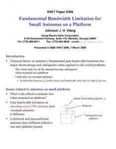 IWAT Paper 5306 Fundamental Bandwidth Limitation for Small